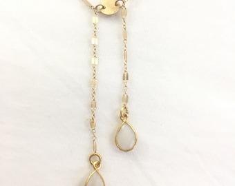 Moonstone double Y necklace