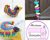 Crochet pattern,Amigurumi pattern,beginner crochet pattern,crochet bird pattern,amigurumi bird pattern,crochet ornament,hanging bird,pdf