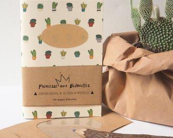 "Notebook ""Cactus, Succulents"""