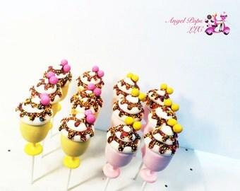 Ice Cream Sundae cake pops