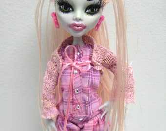 Ooak Monster High Ghoulia Yelps  Doll Artist Doll Custom Doll One Of A Kind