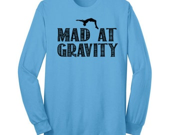 Mad at Graivty Gymnastics Shirt Gymnast Long Sleeve T Shirt