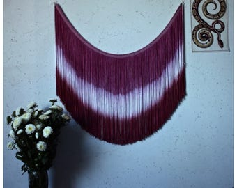 Retro Wall Art - Vintage Wall Hanging, Violet Hand Dyed