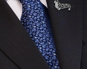 Pembroke Welsh Corgi brooch - sterling silver.