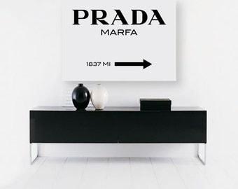 prada, prada marfa, prada print, prada marfa print, prada poster, prada wall art, fashion print, fashion illustration, fashion, wall art,