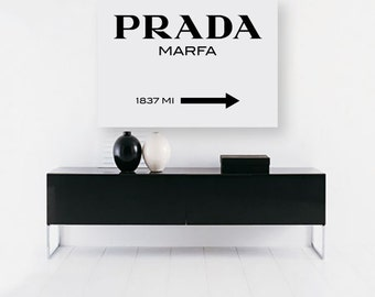 prada marfa etsy. Black Bedroom Furniture Sets. Home Design Ideas