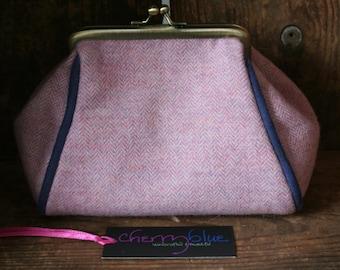 Pink Cashmere barrel purse