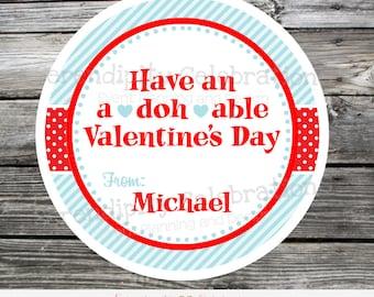 Printable Play doh Valentine Tag, Printable Valentine Tags, Valentine's Day, Play doh tags, Valentine Stickers, Play Dough, Kids Valenetines