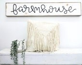 Farmhouse black and white rustic wood sign