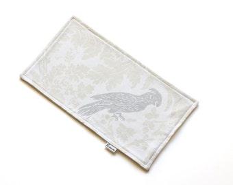 SALE || Burp Cloth || Floral Birds || Fleece Backing