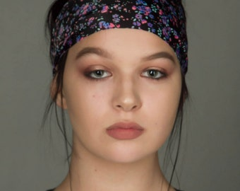 Floral Headband by Manda Bees - Guaranteed not to slip off (or your money back!) - Purple Flower Yoga Headband / Running Headbands -CLARISSA