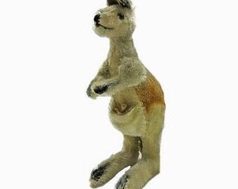 Old Steiff  Kangoroo  with baby / 11,08 inch vintage kangoroo
