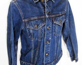 """Vintage Levi's 70505-0217 """"Big E"""" Denim Jacket Sz.38 1960's"""
