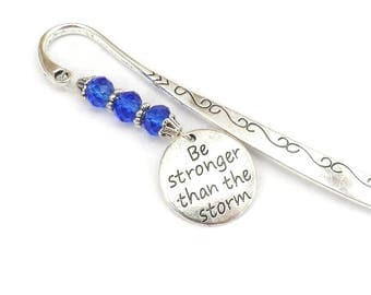 Be Stronger Than The Storm Bookmark, Awareness Bookmark, Addiction Recovery Gifts, MS, Cancer, AA, NA