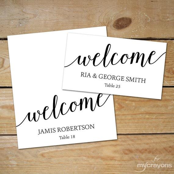 Editable Place Card Templates // DIY Wedding Place Cards