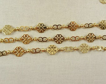 24k gold chain by the inchfoot decorative chain for jewelry making necklace - Decorative Chain