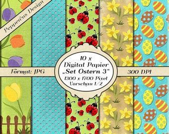 10 x digital paper - set Easter 3 / DP100
