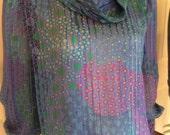 Adrianna Papell 80s Silk Blouse Size 4  /  Cowl Neck Silk Blouse  /  80s Dress Blouse  /  Cheapvintagefashion