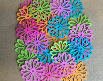 25 2 inch Flowers Gum Drop Cricut Die Cuts