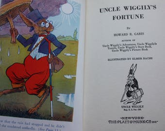 Uncle Wiggily's Fortune by Howard R. Garis, Illustrated by Elmer Rache, Published by Platt & Munk (1942)
