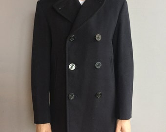 WW2 8 Button US Navy Peacoat Heavy Duty Navy Wool with corduroy pocket SEE Size Options