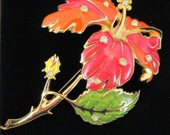 Jose Barrera Brooch - Hibiscus Flower for Avon 1994  - S2044