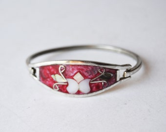 Silver alpaca bracelet Mexico