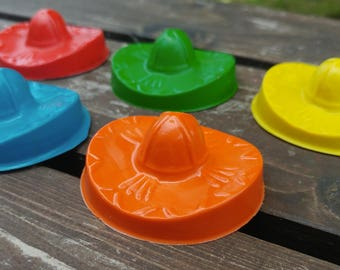 Sombrero Hat Crayons set of 5 - party favors