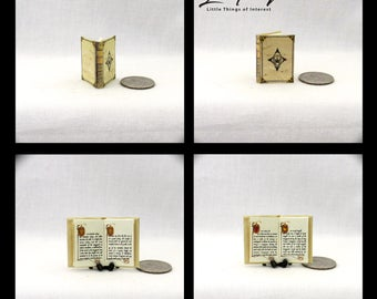 KINGSGUARD BOOK Of The BROTHERS Miniature Book Dollhouse 1:12 Scale Illustrated Game of Thrones