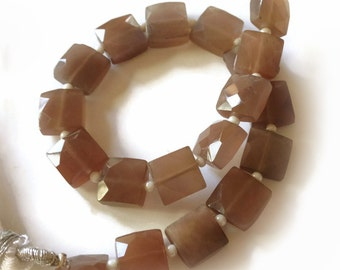 Chocolate moonstone faceted squares.   Approx. 8.25mm x 8.25mm.  Select a quantity.