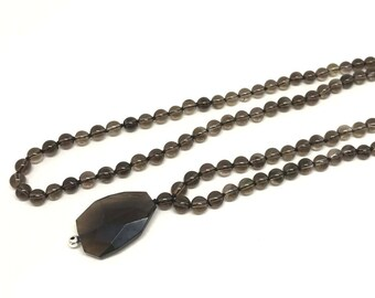 Mala Necklace, Mala Beads 108, 108 Mala Beads, Mala Bead Necklace, Smoky Quartz Necklace, Smoky Quartz Jewelry, Mala 108 Necklace Meditation