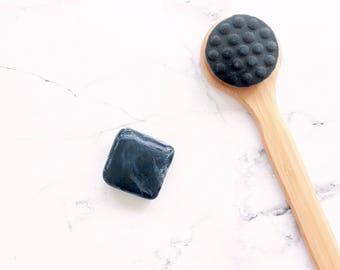 CLEANSING BAR // 'Detox' Skin-Clearing Activated Charcoal Shampoo & Soap Bar - - - Vegan ∙ Organic ∙ 100% Natural