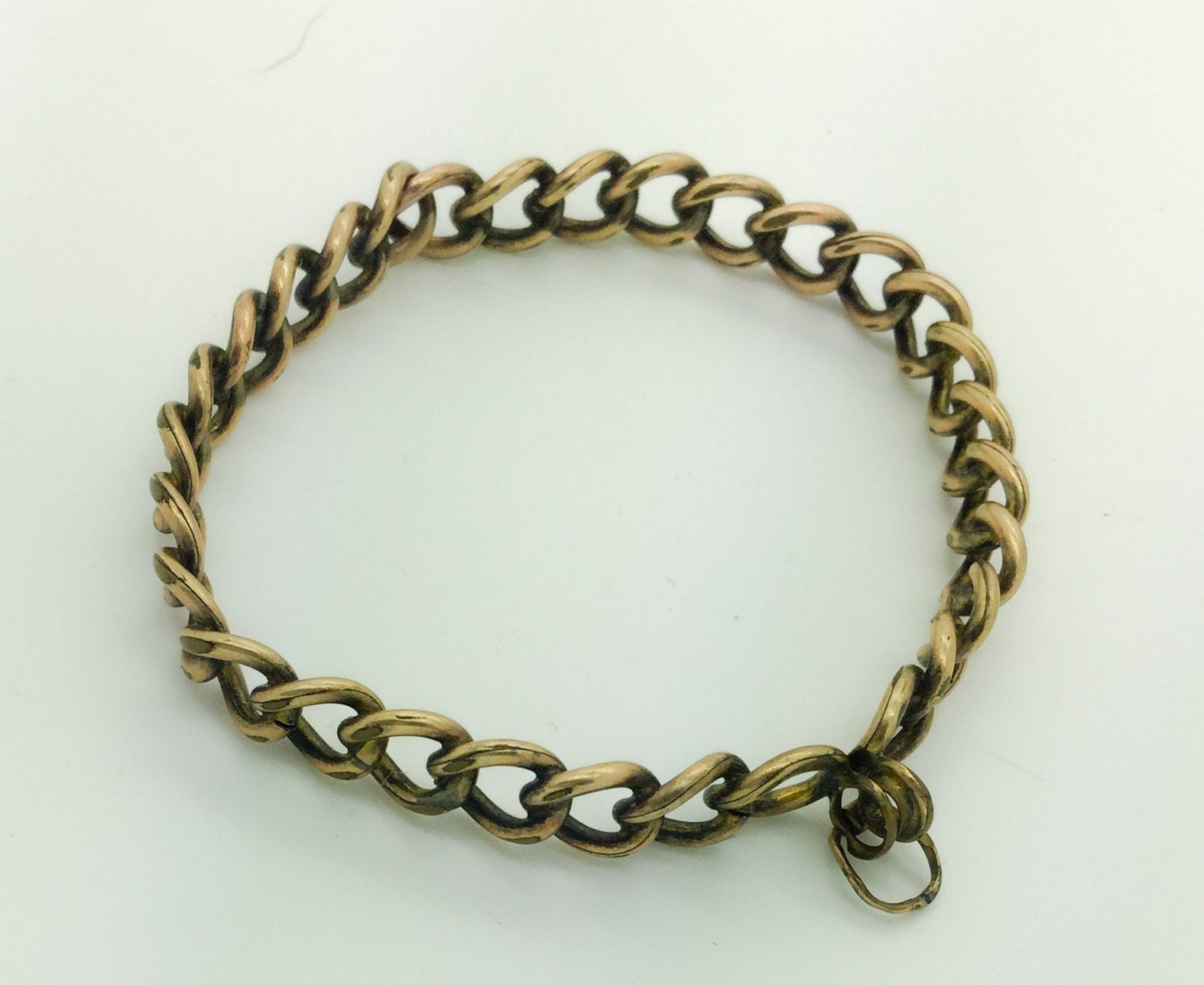 Victorian bracelet or antique tiny dog collar clamp hinged