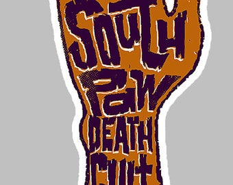 Southpaw vinyl STICKER, lefty, sinistral, left handed, decal, car window, Southpaw death cult