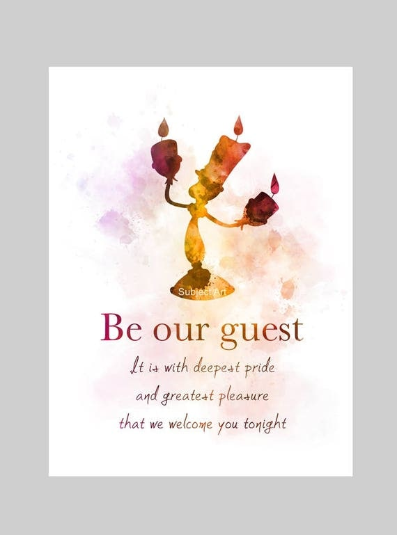 Beauty And The Beast Inspired Quote ART PRINT Illustration