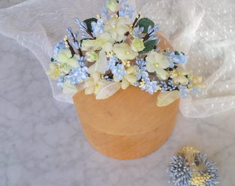 Bridal floral crown, Boho wedding crown, Boho headpiece, Bridesmaid crown, Bridal tiara, Floral tiara, Something blue
