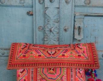 Hmong Handmade Vintage Textile Hilltribe summer Evening clutch Ethnic Tribal Fashion