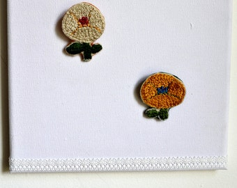 Embroidered Brooch : Marigold