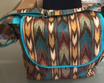 Big Diaper Bag - Handmade Diaper Bag - Western Diaper Bag