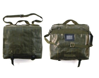 Canvas Messenger Bag, Military Bag, Crossbody Bag, School Bag, 1970's Bag, Army Bag, Shoulder Bag