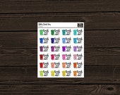 Planner Stickers Trash Can Stickers Trash Day Stickers Glitter Planner Stickers Chore Stickers PM001 Glitter Trash Day