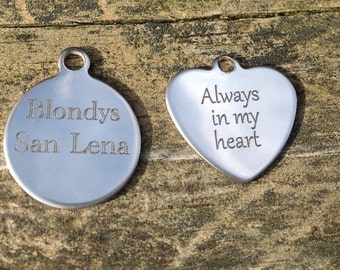 Add an Engraved Tag, Personalized Tag, Engraved Tag for Bracelet