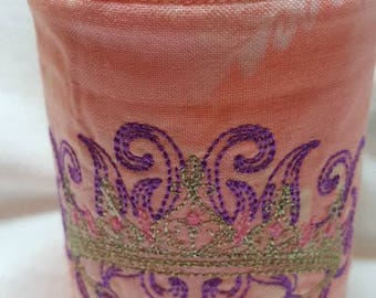 Embroidered Spoiled Can Cooler with crown
