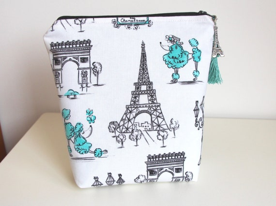 Paris Poodle Makeup Bag Organizer Jewelry Pouch