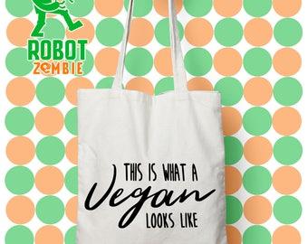 vegan looks like, Vegan tote bag, vegan bag, yes i am vegan, funny vegan tote, gift for vegan, sassy vegan tote, vegan grocery bag
