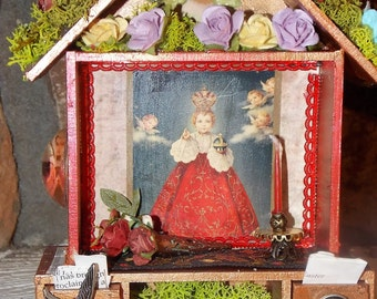Infant of Prague Home Shrine