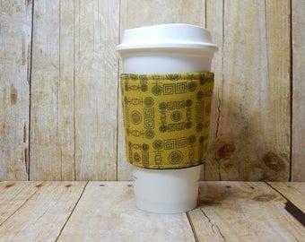 CLEARANCE / Fabric Coffee Cozy / Chinese Coin Coffee Cozy / Coffee Cozy / Tea Cozy