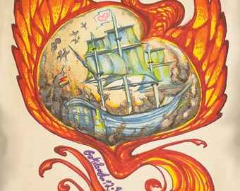 Ghost Ship Fire Memorial Tribute Poster - All Proceeds Benefit Victim's Relief Fund