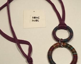 Double Circle Pendant Necklace