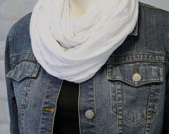 Summer Scarf - Travel Scarf - Mobius Scarf - Fabric Scarf - Light Weight Scarf - Cotton Knit Scarf - Classy Scarf - Minimalist Scarf